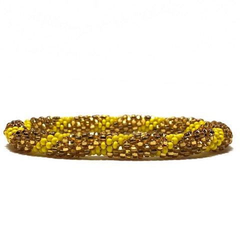 Roll on armbånd gul