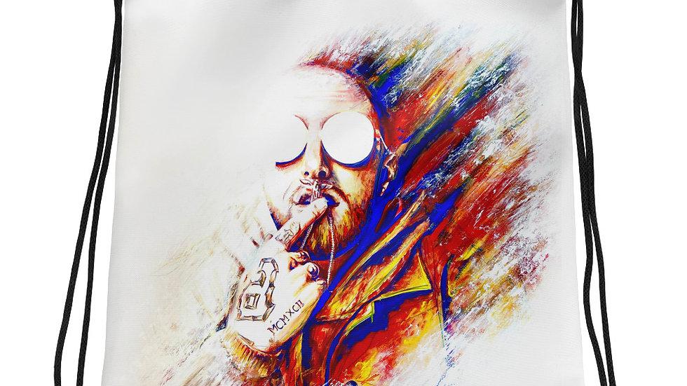 Mac Miller #1 Art Drawstring bag
