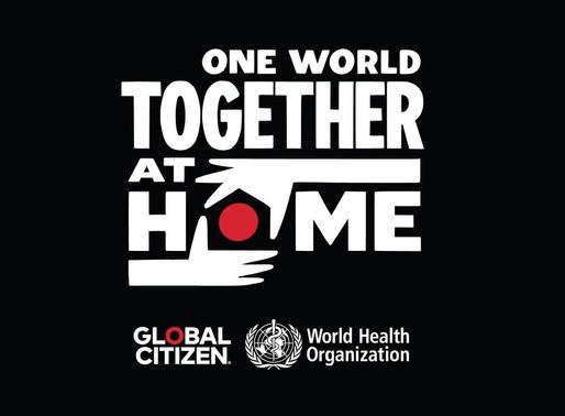 """Festival """"One world: Together at Home"""" en apoyo a la crisis del coronavirus"""