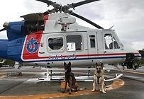 ヘリ搭乗訓練