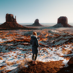 A Snowy Sunrise in Monument Valley