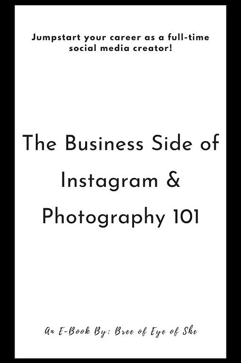 The Business Side of Instagram & Photography 101 E-Book