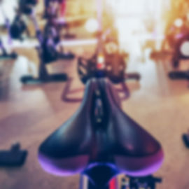 Closeup modern Bike Saddle with blurred