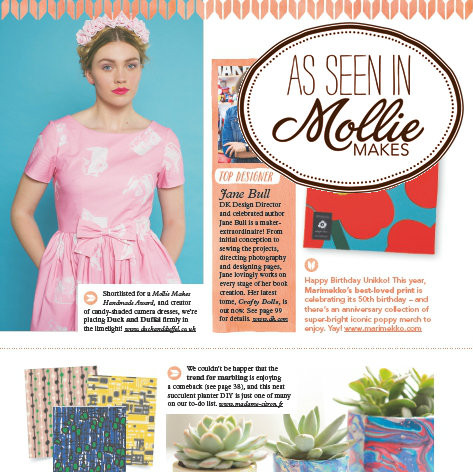Duck and Duffel Collection Featured in Mollie Makes magazine