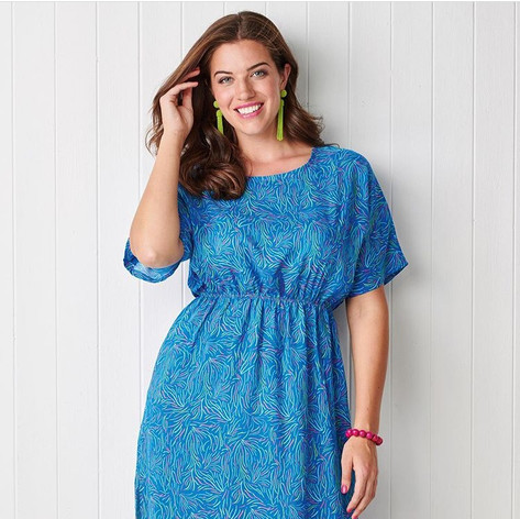 Simply Sewing issue 59 - Elastic waist dress
