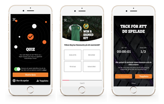 In-app competitions