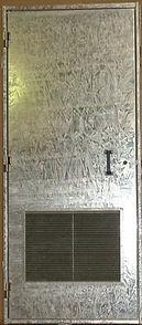 porte métallique en acier galvanisé à chaud