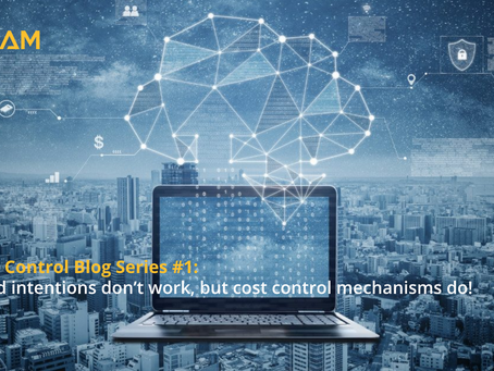 Cost Control Blog Series #1: Good intentions don't work, but cost control mechanisms do!