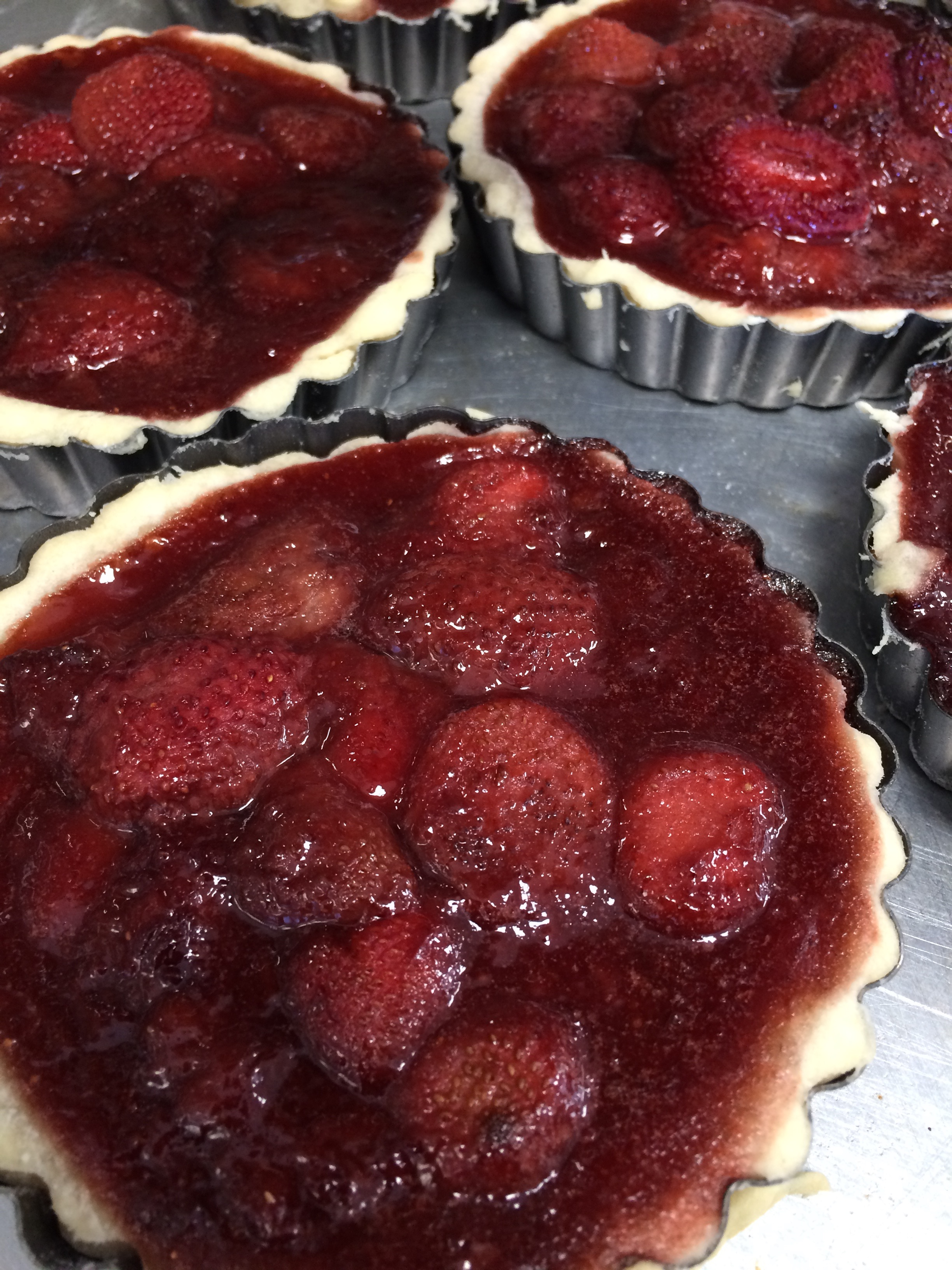 Organic strawberry tart