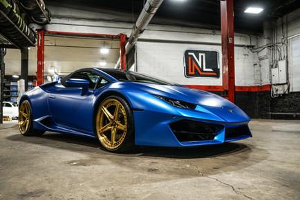 Lamborghini Huracan Blue Wrap