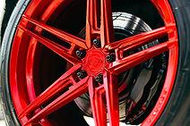 Powder Coat Red Rohana Wheel