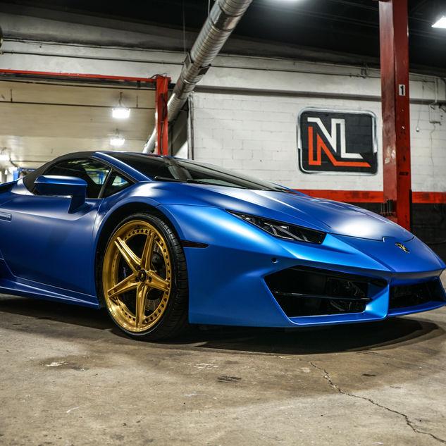 Blue Lamborghini Huracan