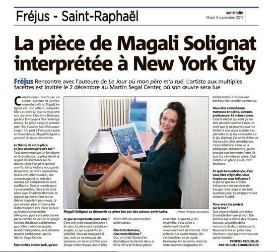 Magali Solignat - Ecriture et mises en scène