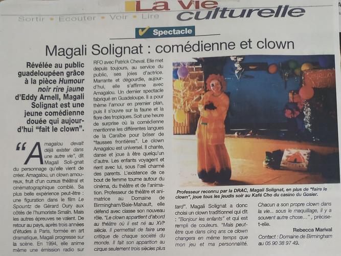 Magali Solignat - Spectacle de Clown