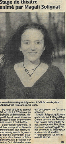 Magali Solignat - Classes théâtre