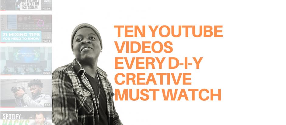 Ten Must-Watch YouTubers for DIY Artists