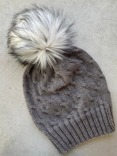 Granite Coast Hat Kit With Faux Fur Pom pom