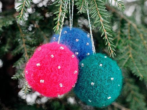 Beaded Ball Ornaments