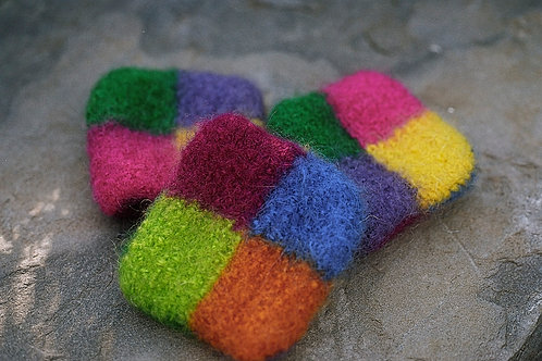 Color Blocked Felted Catnip Pillows