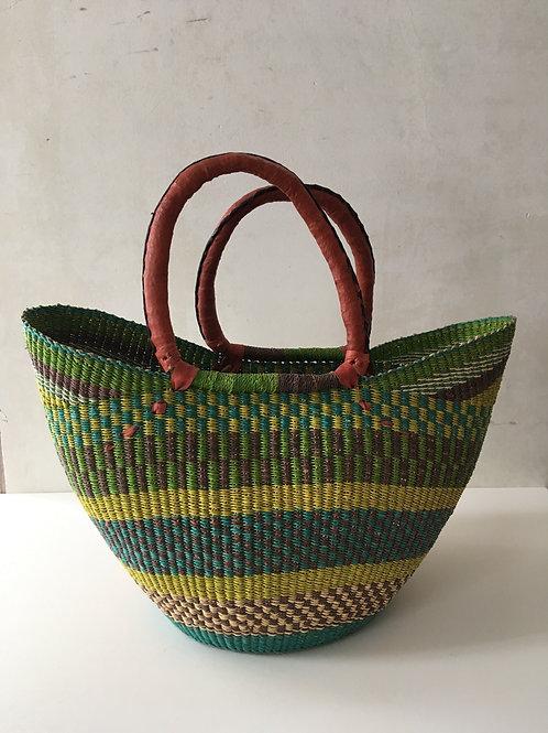 African Market Basket  - Large Shopper #134