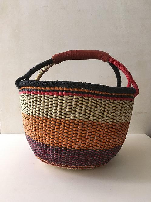African Market Basket  - Large Round #108