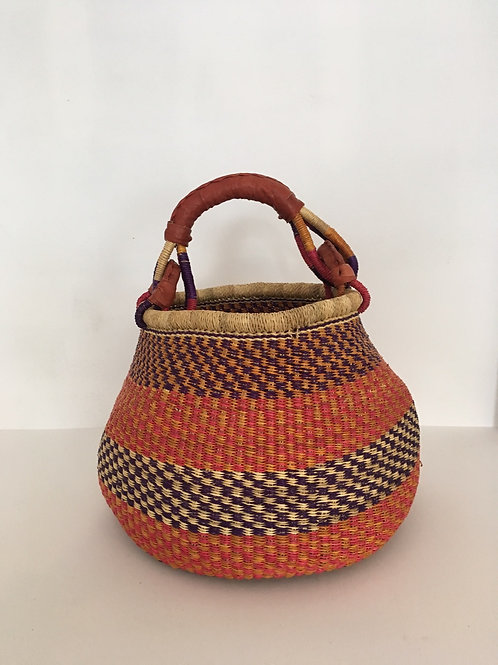 African Market Basket  - Pot Basket #401