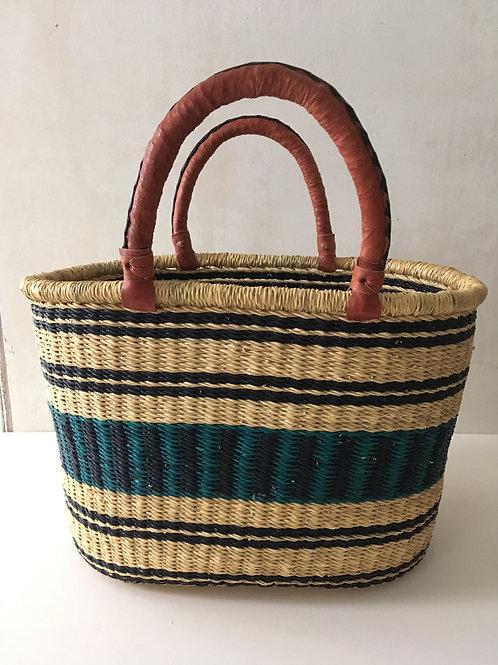 African Market Basket  - Large Oval #132