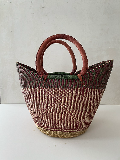African Market Basket  - Large Shopper #134