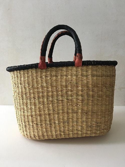 African Market Basket  - Large Oval #133