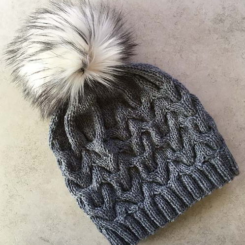 Snow Bowl Hat Kit with Faux Fur Pom Pom