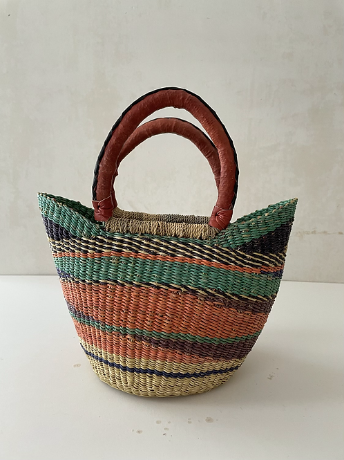 African Market Basket  - Small Shopper #106