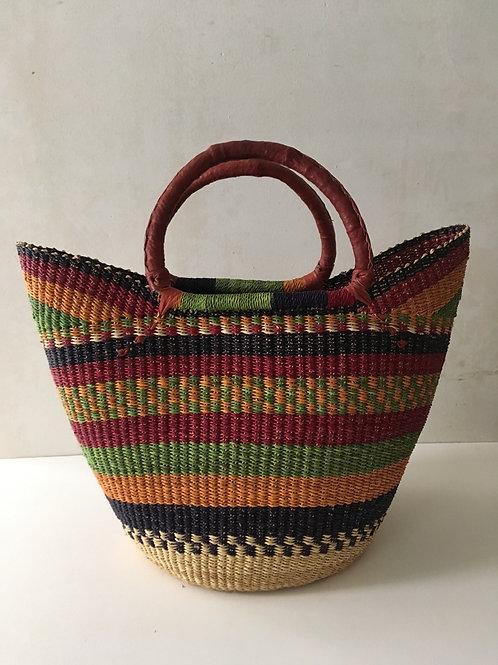 African Market Basket  - Large Shopper #132