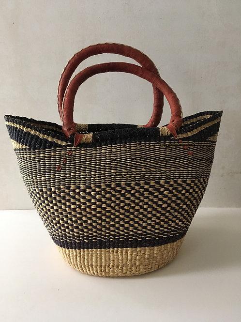 African Market Basket  - Large Shopper #133