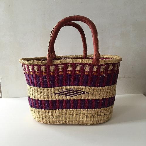 African Market Basket  - Large Oval #130