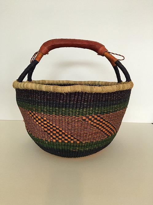 African Market Basket  - Large Round #122