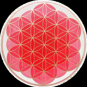 Blume des Lebens rot, Wurzelchakra, yoga-individuell.com, blume-des-lebens-werke.de