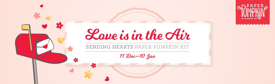 Love is in the Air with the January Paper Pumpkin Kit