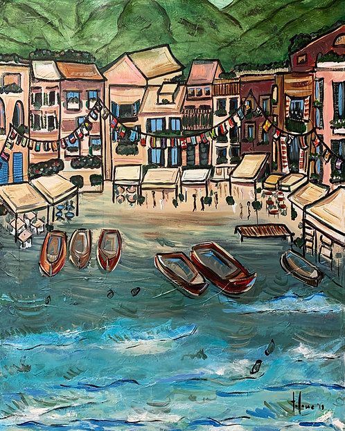 "Portofino, Italy Print   18x24"""