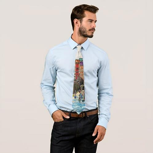 CINQUE TERRA, ITALY Printed Tie