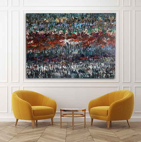 """""""Crowd Watching"""" Original Painting by Caterina Tolone"""