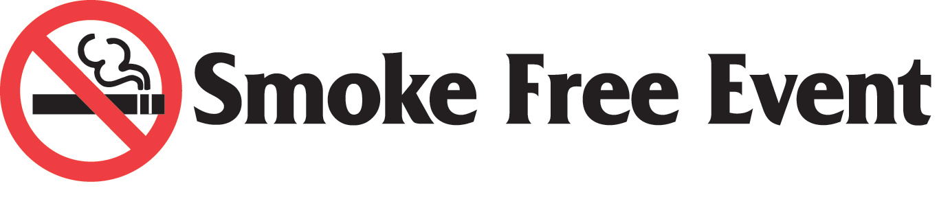 Smoke Free Event Black & Red