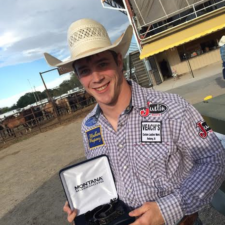 BAREBACK BRONC WINNER TIM O'CONNELL RECEIVES SPECIAL HONOR FROM IOWA STATE SENATE