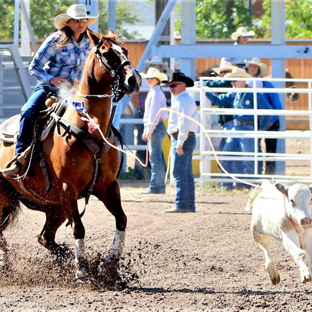 Cowgirls' Breakaway Roping featured at Gerry Rodeo