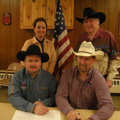 PAINTED PONY PRO RODEO SIGNED FOR 71ST ANNUAL GERRY RODEO