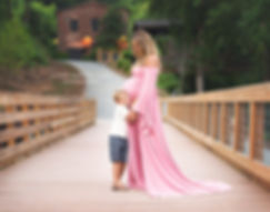 maternity photography in custom dress gown by sew trendy accessories, photography in roswell mill park roswell georgia