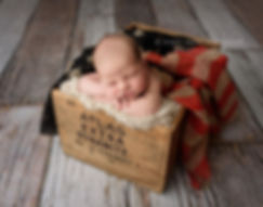 rustic patriotic july 4th flag dynamite crate newborn baby photography