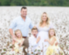 family and maternity photography in cartersville Georgia cotton field