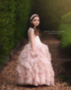 child photography, little girl in pink dollcake frock dress gown, in park in woodstock georgia