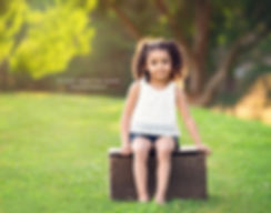 litttle girl sitting on crate in canton ga park, child photography