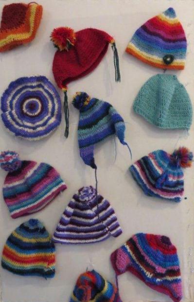 סריגת כובעים